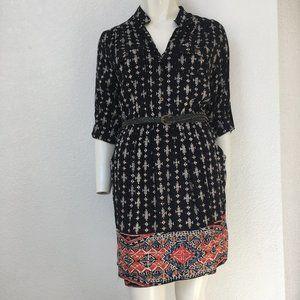 Angie Junior's Button Up Black Shirt Dress NWT